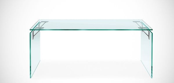 bright fiam glass desk